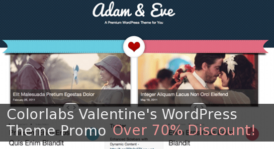 Colorlabs Valentine's WordPress Theme Promo – Over 70% Discount!