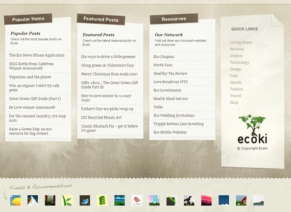 footer design inspiration Ecoki