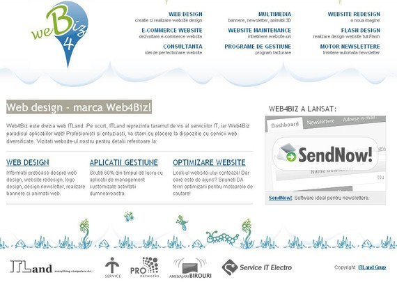 footer design inspiration Web design - marca Web4Biz!