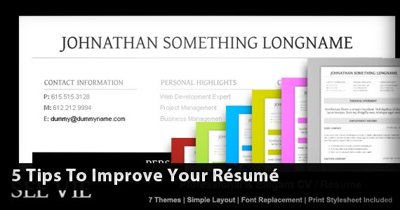 5 Tips to Improve Your Résumé