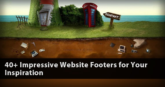 40+ Impressive Website Footers for Your Inspiration