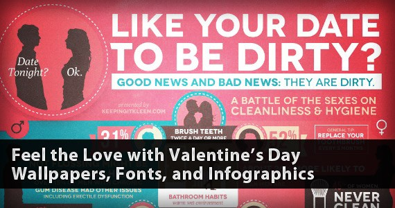 Feel the Love with Valentine's Day Wallpapers, Fonts, and Infographics