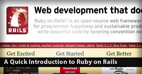 A Quick Introduction to Ruby on Rails