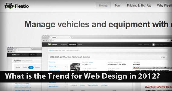 What is the Trend for Web Design in 2012?