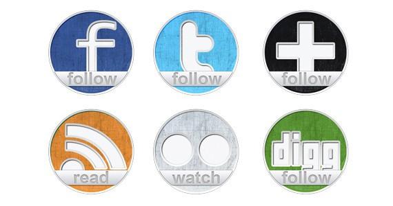 Freebie: 6 social icons