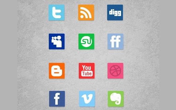 A Free Mini Simple Social Media Icon Set