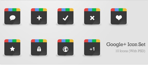 Google+ Icon Set (PSD)