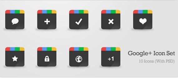 Google+ Icon Set (PSD)