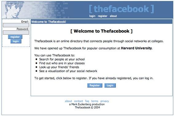 facebook, history of social media