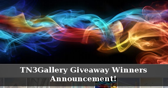 TN3Gallery Giveaway Winners Announcement!