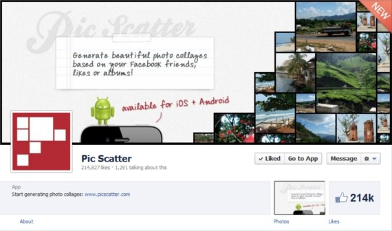 PicScatter-Facebook-Page-Timeline