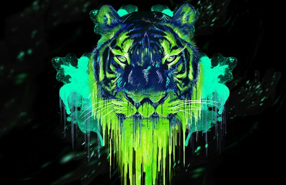 How to Create a Psychedelic Tiger Illustration in Photoshop