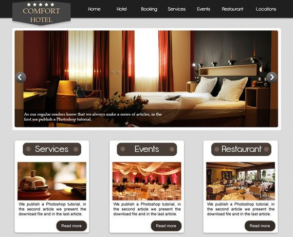 How to Design an Elegant Hotel Website in Photoshop