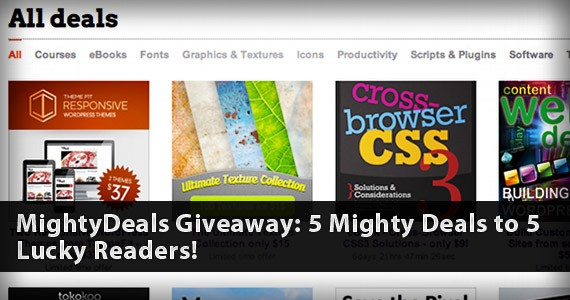 MightyDeals Giveaway: 5 Mighty Deals to 5 Lucky Readers!