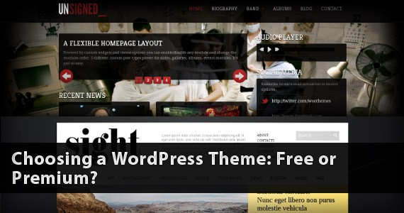 Choosing a WordPress Theme: Free or Premium?