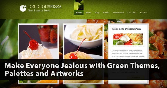 Make Everyone Jealous with Green Themes, Palettes and Artworks