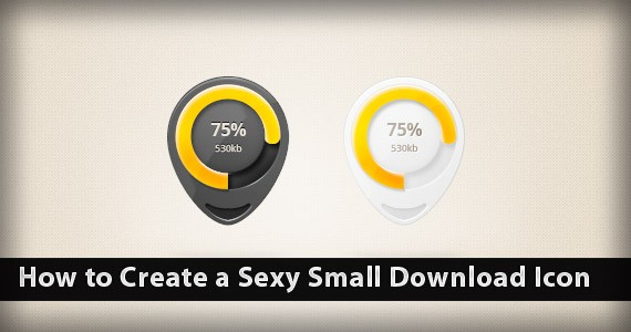 How to Create a Sexy Small Download Icon