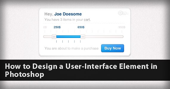 How to Design a User-Interface Element in Photoshop