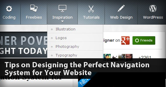 Tips on Designing the Perfect Navigation System for Your Website