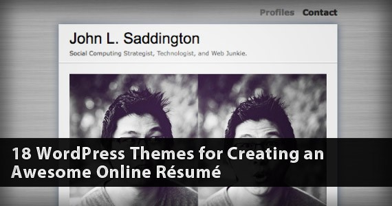 18 WordPress Themes for Creating an Awesome Online Résumé