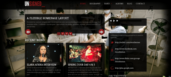 Pictured: 'Unsigned' -- a Premium Theme by WooThemes