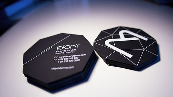 creative minimal business card design inspiration Black Diamond Business Card