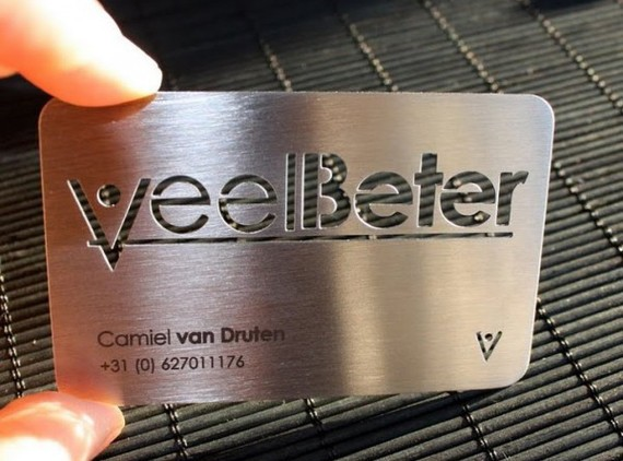 veel beter business card - Unique Business Card Ideas