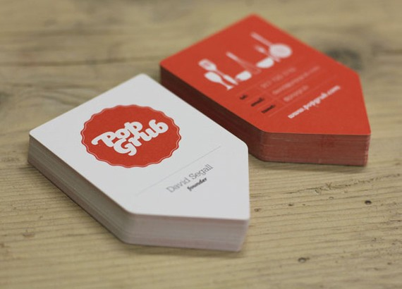 creative minimal business card design inspiration Pop Grub