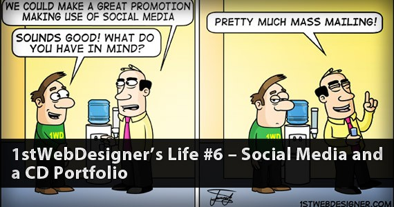 1stWebDesigner's Life #6 – Social Media and a CD Portfolio