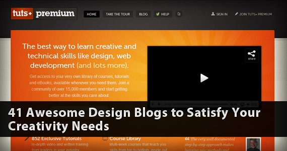 41 Awesome Design Blogs to Satisfy Your Creativity Needs