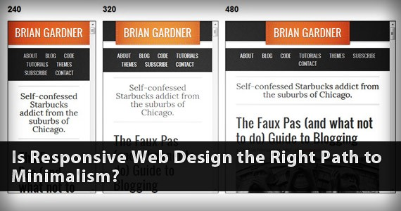 Is Responsive Web Design the Right Path to Minimalism?