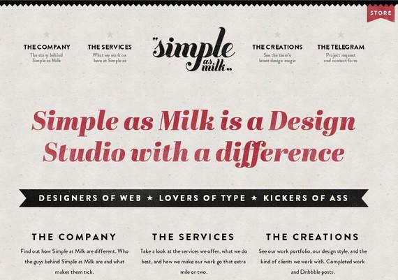 Simple as milk