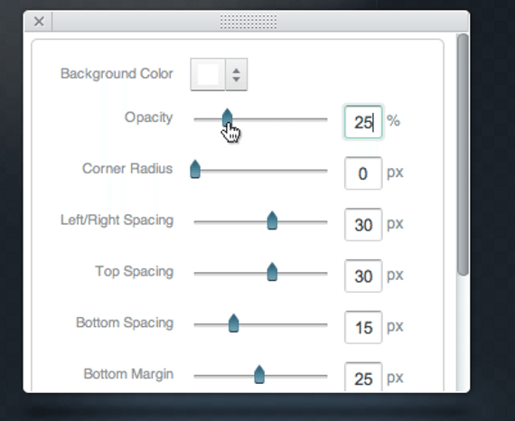 Style Control features in Breezi