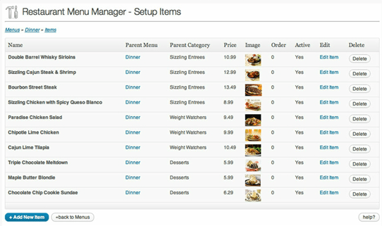 3-Easy Restaurant Menu Manager Plugin