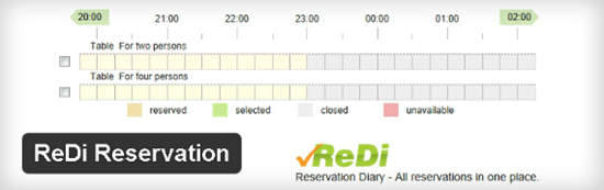 4-Reservation Diary Plugin