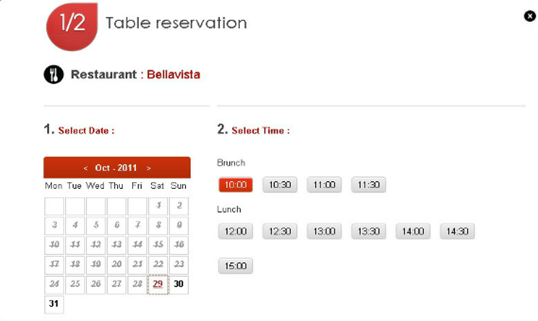 Create A Professional Restaurant Website With WordPress Plugins - Table reservation in restaurant