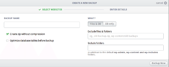 Performing backups using InfiniteWP