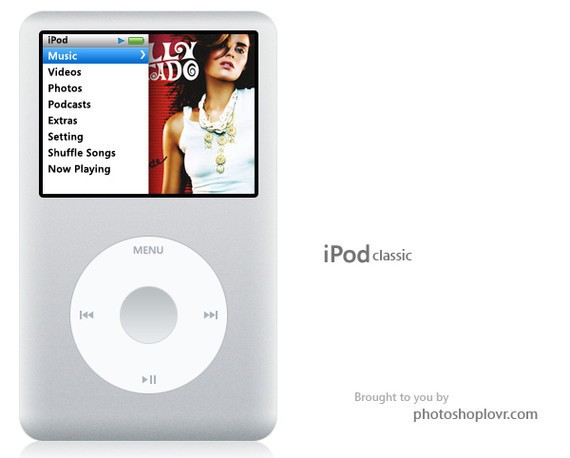 Make an Apple iPod Classic in Photoshop