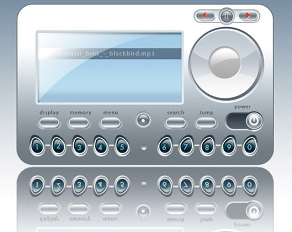 MP3 Player Photoshop Tutorial