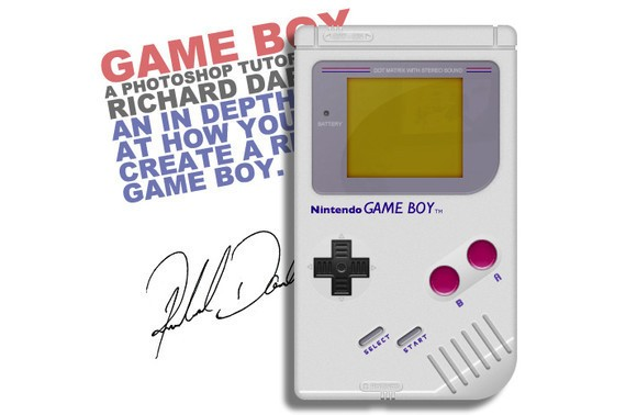 How to Create a Realistic Nintendo Game Boy