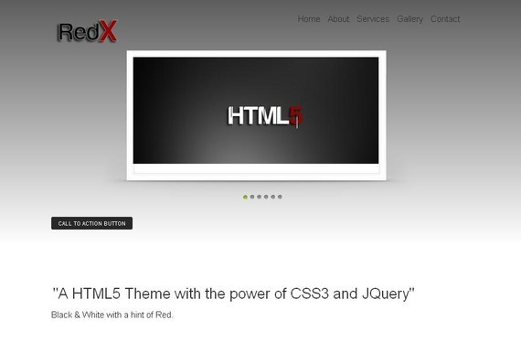 RedX HTML5 and CSS3 Template