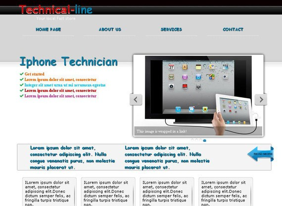 TechnicalLine HTML5 and CSS3 Template