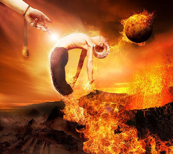 Create the Firey Photo Manipulation 'Satan's Judgement'