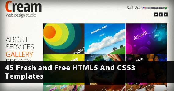 45 Fresh and Free HTML5 And CSS3 Templates You Should See