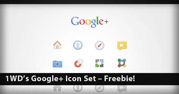 1WD's Google+ Icon Set – Freebie!