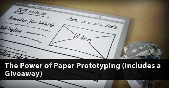 The Power of Paper Prototyping (Includes a Giveaway)