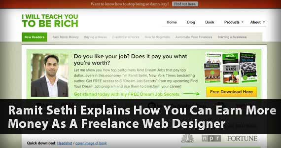 Ramit Sethi Explains How You Can Earn More Money As A Freelance Web Designer