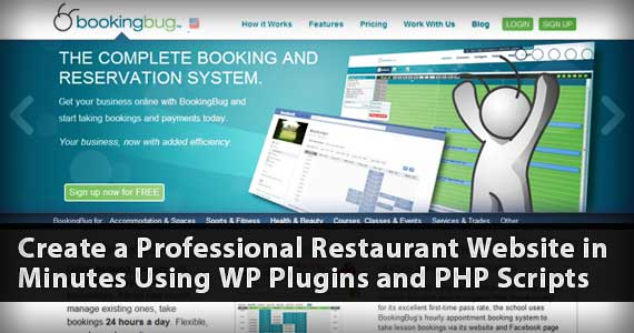 Create a Professional Restaurant Website in Minutes Using WP Plugins and PHP Scripts