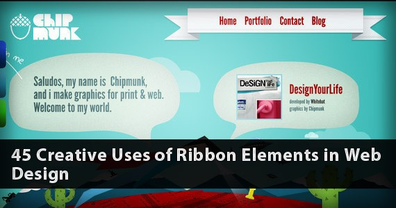 40+ Creative uses of Ribbons in Web Design