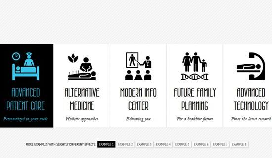 Animated-text-jquery-css-navigation